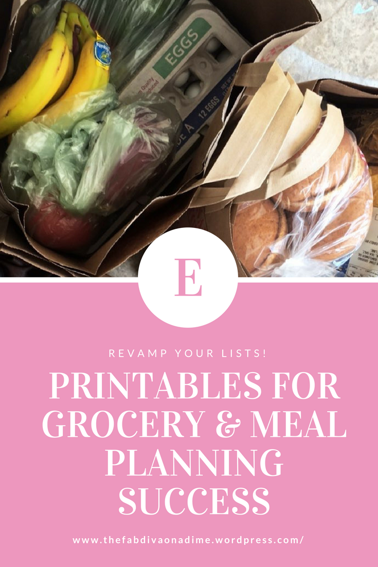 Grocery Shopping: Prep like your meals depend on it! – With Printables!