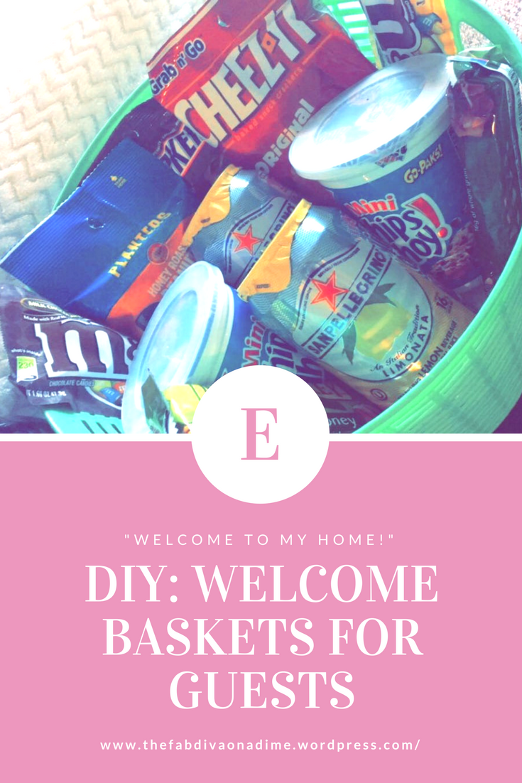 DIY Welcome Baskets for Out of Town Guests!