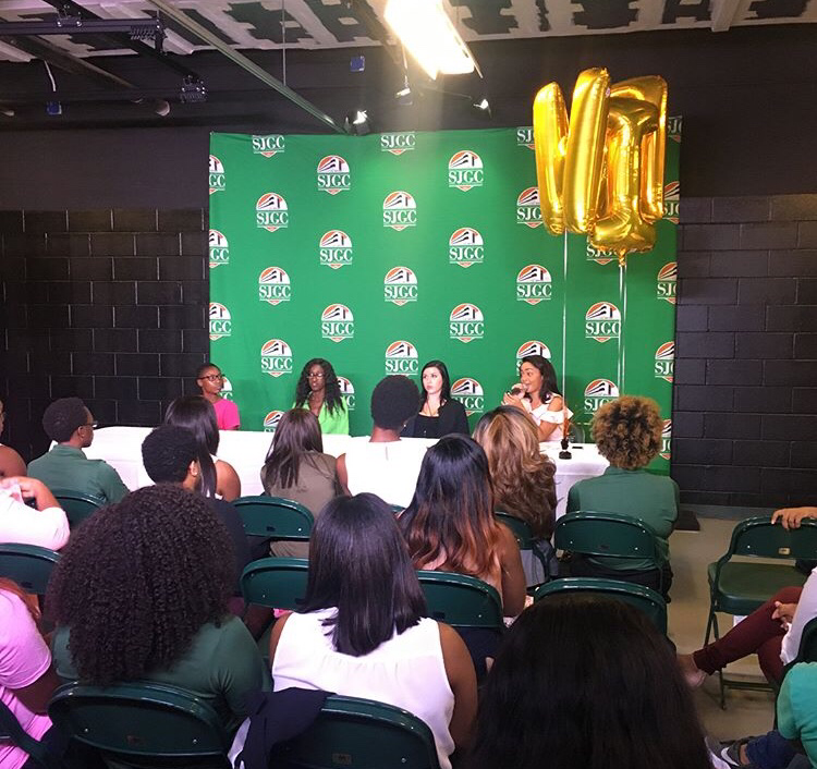Meaghan @ her recent Women in Radio event held at FAMU!
