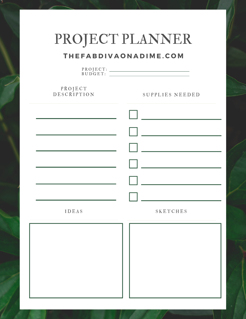 Printable Freebie! – Project Planner